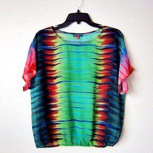 Rainbow Tie-Dye Vince Camuto Blouse